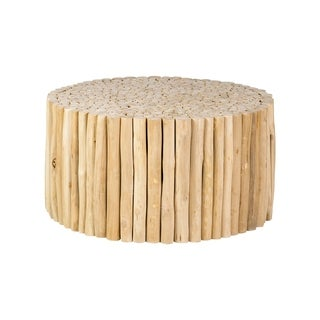 Decorative Lostine Modern Tan Round Coffee Table