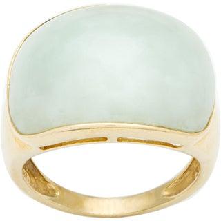 14k Yellow Gold Giant Jade Estate Ring