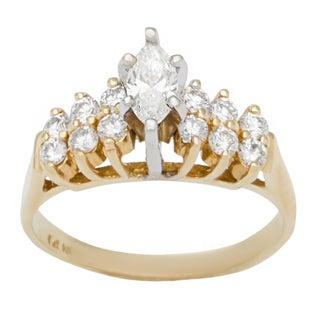 14k Yellow Gold 3/5ct TDW Diamond Estate Engagement Ring (G-H, VS1-VS2)