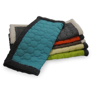 Circle Quilted Reversible Water-repellent Cotton Canvas Throw