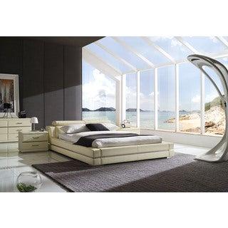 Firenze Modern Ivory Platform Bedroom Set