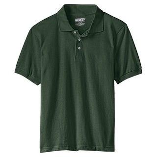 Genuine School Uniform Children's Green Unisex Short Sleeve Pique Polo Shirt