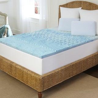 Tempure Rest Marbleized 5-zone Gel Memory Foam Topper