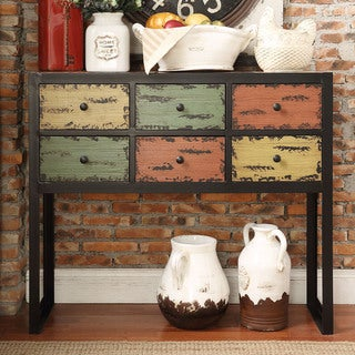 Soho Rustic Antique Multicolor 6-drawer Buffet Sideboard