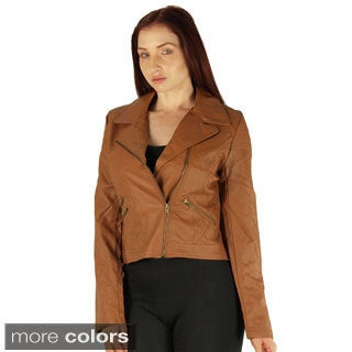 Ladies Zip Up PU Jacket