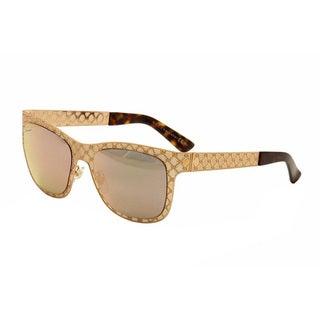 Gucci Women's 4266/S Metal Rectangular Sunglasses
