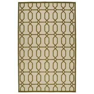Indoor/Outdoor Luka Olive Geo Rug (7'10 x 10'8)