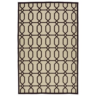 Indoor/Outdoor Luka Brown Geo Rug (8'8 x 12'0)