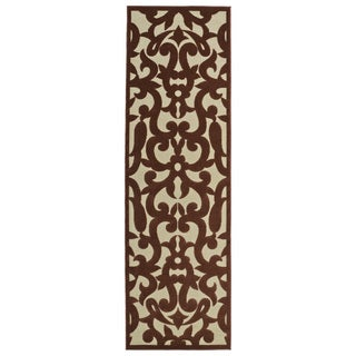 Indoor/Outdoor Luka Terracotta Vine Rug (3'10 x 5'8)