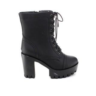 Refresh Women's Sabrina-01 Lug Sole Platform Mid-Calf Boots
