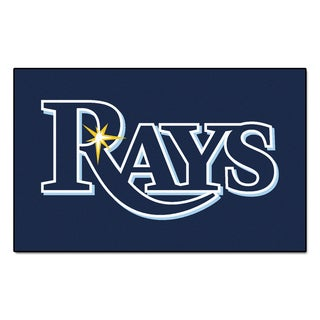 Fanmats Machine-made Tampa Bay Rays Blue Nylon Ulti-Mat (5' x 8')