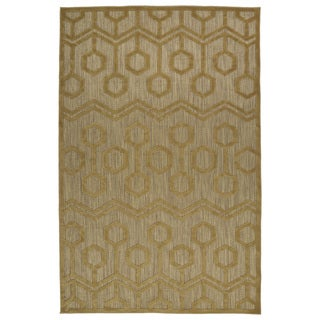 Indoor/Outdoor Luka Light Brown Zig-Zag Rug (8'8 x 12'0)