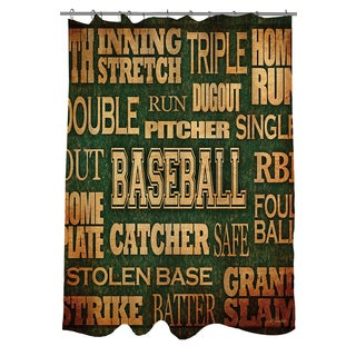 Thumbprintz Baseball Words Shower Curtain