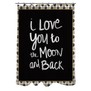 Thumbprintz Moon Gold and Black Shower Curtain