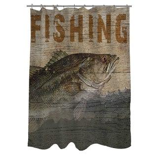 Thumbprintz Fishing Shower Curtain