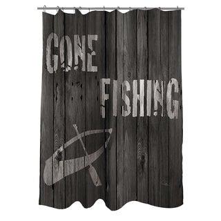 Thumbprintz Gone Fishing Shower Curtain