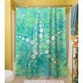 Thumbprintz Sponge Paint Starfish Shower Curtain