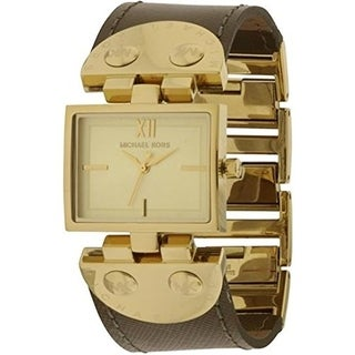 Michael Kors Women's MK2344 Signature Leather Strap Watch