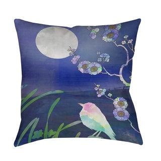 Thumbprintz Songbird and Moon Indoor/ Outdoor Pillow