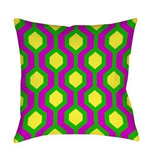 Thumbprintz Neon Party Honeycomb Pattern Decorative Pillow