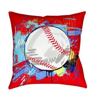 Thumbprintz Baseball Homerun Decorative Pillow