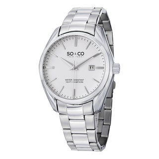 SO&CO New York Men's Madison Quartz Date Stainless Steel Watch