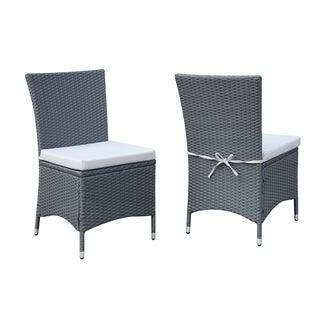 Portfolio Aldrich Grey Indoor/Outdoor 2-piece Armless Dining Chair Set