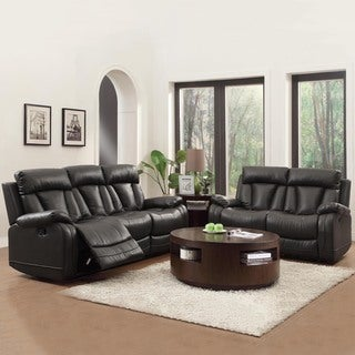 Ralston Bonded Leather Reclining Sofa and Loveseat Set
