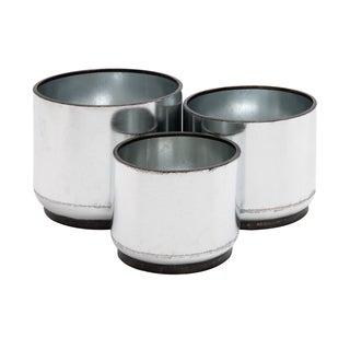 Round White Metal Planter (Set of 3)