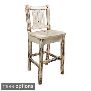 Milas Lacquered Backed Barstool