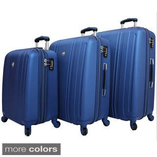 Mia Toro Perla Lightweight Hardside 3-piece Spinner Luggage Set