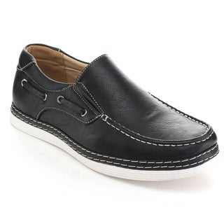 Rocus XH-95 Men's Casual Boat Shoes Eyelet Slip On Loafers