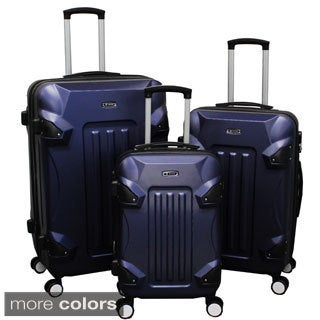 World Traveler Silhouette 3-piece Expandable Hardside Spinner Luggage Set