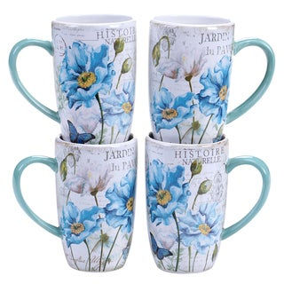Certified International Tuileries Garden 14-ounce Mug, 2 Assorted Designs (Set of 4)