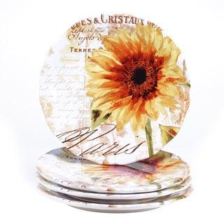 Certified International Paris Sunflower 11-inch Dinner Plate (Set of 4)