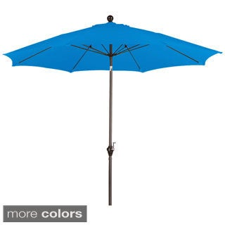 Somette 9 Foot Market Umbrella with a Bronze Finish Fiberglass Frame and Polyester Fabric