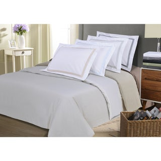 Wrinkle Resistant Embroidered Peaks 3-piece Duvet Cover Set