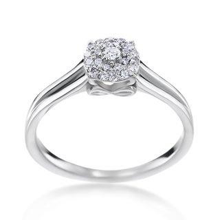 SummerRose 14k White Gold 1/5ct TDW Diamond Fashion Ring (H-I, SI1-SI2)