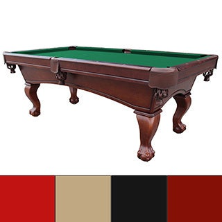 Westport 8-foot Antique Walnut Slate Pool Table