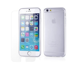 CTA Deals 9H Tempered Glass Screen Protector and Clear Case Luxury Kit for Apple iPhone 6