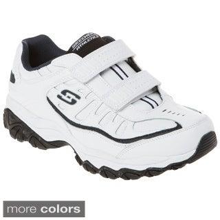 Skechers 50121 All Leather Upper Memory Foam Footbed Double Hook-and-loop Closure Sneaker
