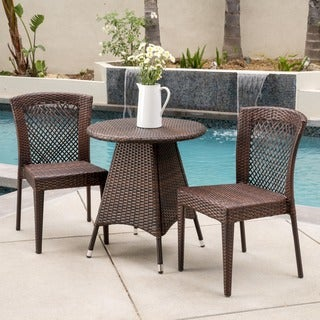 Christopher Knight Home Neal Outdoor 3-piece Wicker Bistro Set
