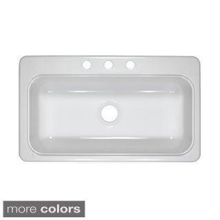 Designer 33-Inch by 19-Inch Single Acrylic 7.25-Inch Deep Kitchen Sink