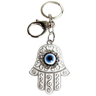 Crystal Florida CF76881025 Hamsa Evil Eye Key Chain Enameled Nazar Kabbalah