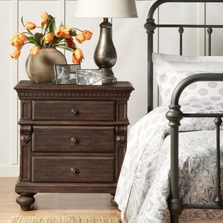 Cristoph Warm Brown 3-drawer Side Table