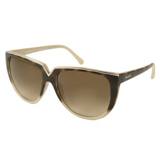 Valentino Women's V603S Havana/ Ivory Cat-Eye Sunglasses