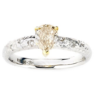 Diamonds for a Cure 18k Two-tone Gold 7/8ct TDW Fancy Light Yellow Diamond Ring (G-H, SI1-SI2)