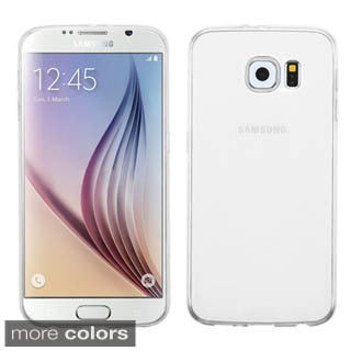 Insten Clear TPU Rubber Candy Skin Phone Case Cover For Samsung Galaxy S6