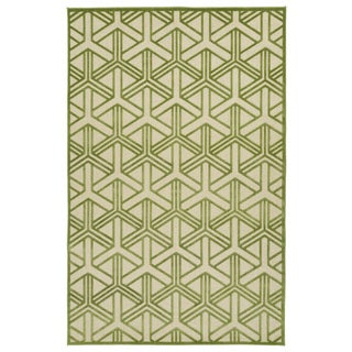 Indoor/Outdoor Luka Green Dimensions Rug (8'8 x 12'0)