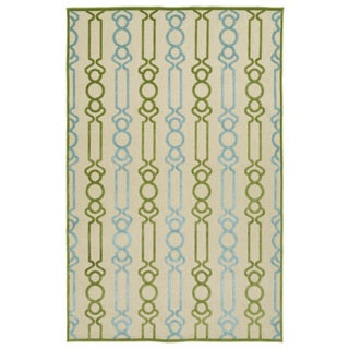 Indoor/Outdoor Luka Green Mod Rug (8'8 x 12'0)